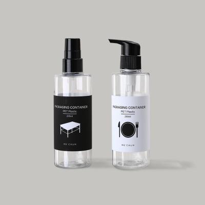 【洗护案例】家具餐具清洁剂PET塑料包装瓶案例