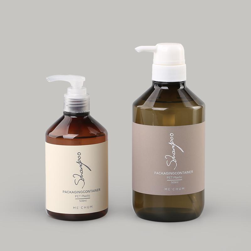 氨基酸洗发水PET塑料包装瓶套装案例