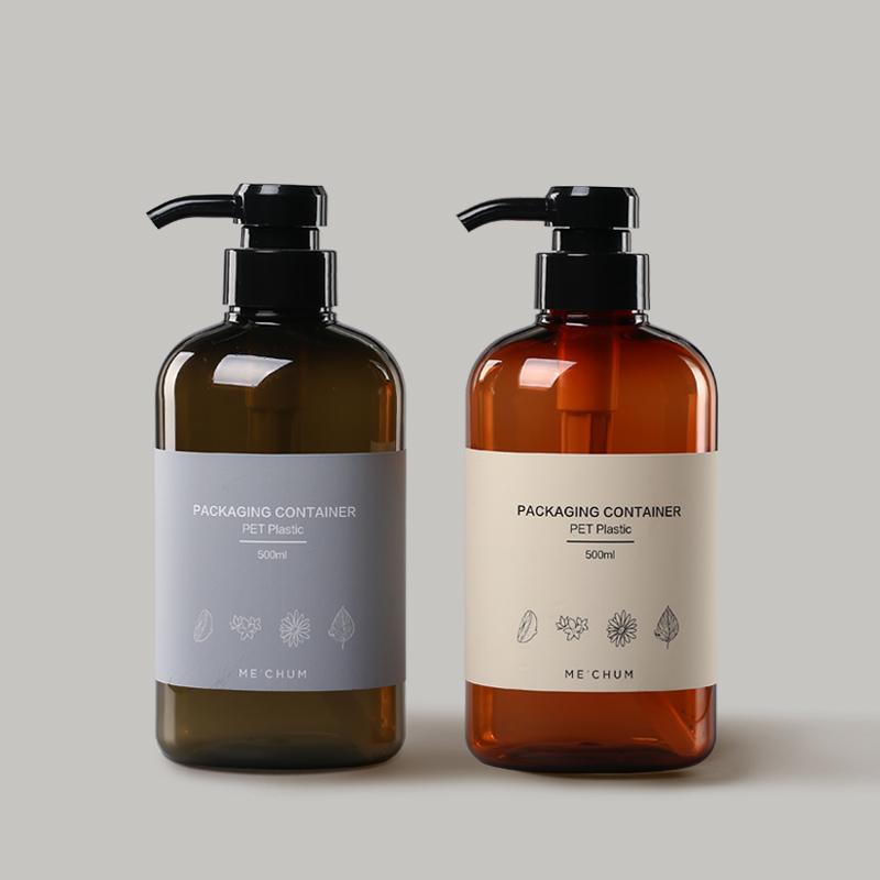 天然植物香薰洗发水PET塑料包装瓶案例